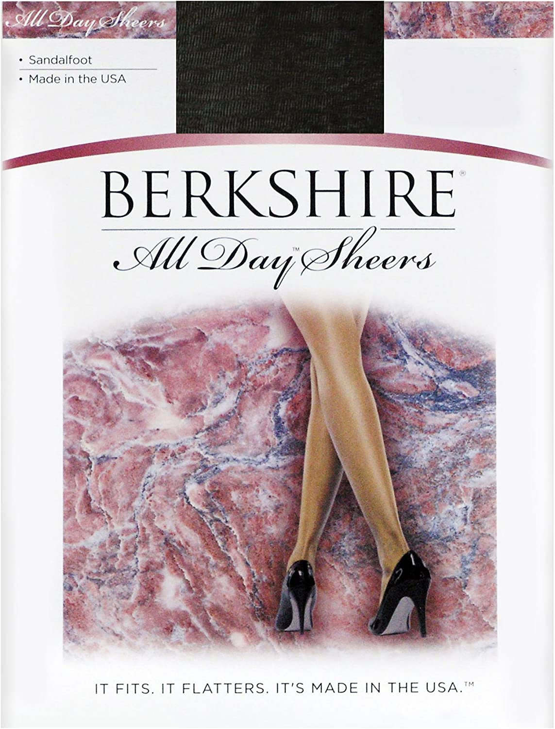 Berkshire All Day Sheer Non-Control Top Pantyhose - Sandalfoot