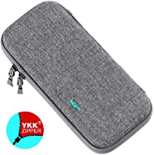 VUP Ultra Slim Carrying Case for Nintendo Switch, Switch Hard Cover Portable Protective Travel Shell for Nintendo Switch Console & Accessories with 8 Game Cartridges - Gray