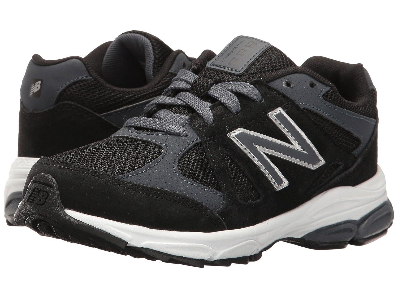 (ニューバランス) New Balance メンズランニングシューズ?スニーカー?靴 KJ888v1 (Little Kid) Black/Grey ブラック/グレー 11 Little Kid (17.5cm) XW