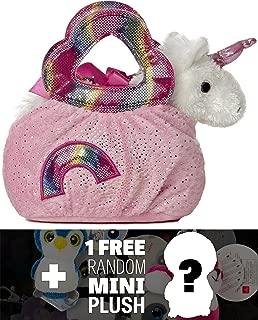 Rainbow: Fancy Pals Mini-Plush Purse Pet Carriers Series + 1 FREE Aurora Mini-Plush Charm Bundle [327597]