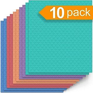 Swedish Dishcloth Cellulose Sponge Cloths – Bulk 10 Pack of Eco-Friendly No Odor Reusable