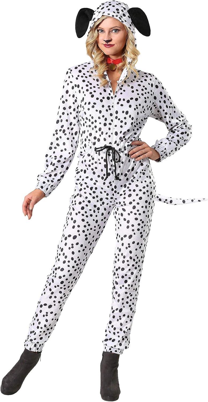 barato Wohombres Plus Cozy Dalmatian Jumpsuit Fancy Fancy Fancy Dress Costume 2X  de moda