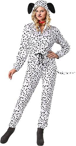 más descuento Wohombres Wohombres Wohombres Plus Cozy Dalmatian Jumpsuit Fancy Dress Costume 2X  marcas en línea venta barata