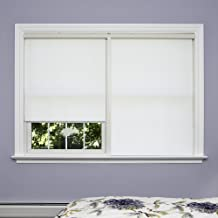 Best Home Fashion Premium Single Wood Look Roller Window Shade - White - 25