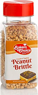 Peanut Brittle Crunch – Nut Dessert Topping – For Ice Cream, Sundaes, Cupcakes, or Milkshakes – Dairy Free, Kosher – 5.3 oz. - Baker's Choice