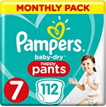 Pampers Baby-Dry Nappy Pants Size 7, 112 Nappy Pants,