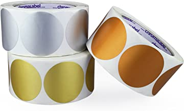 ChromaLabel Metallic Color-Code Dot Labels | Assorted Gold, Silver, Bronze | 500/Roll (2 inch)