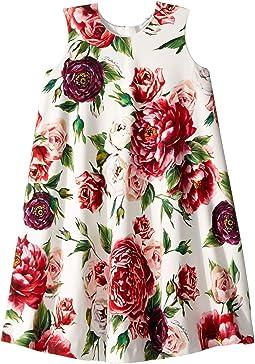 Knit Peonie Print Dress (Big Kids)