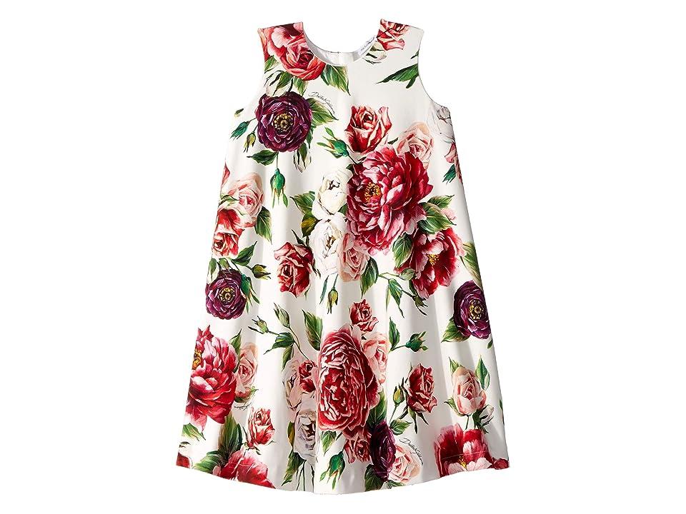Dolce & Gabbana Kids Knit Peonie Print Dress (Big Kids) (Peonie Print) Girl