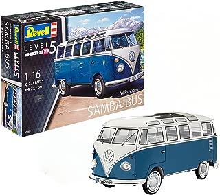 Revell Maqueta Volkswagen T1 Samba Bus, Kit Modelo, Escala 1:16 (07009), 27,2 cm de Largo