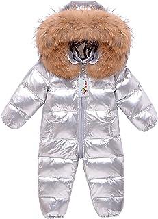 Kombinezon zimowy dla dziecka, kombinezon z kapturem, puchowy kombinezon dla chłopców, dziewcząt, gruby kombinezon, ciepłe...