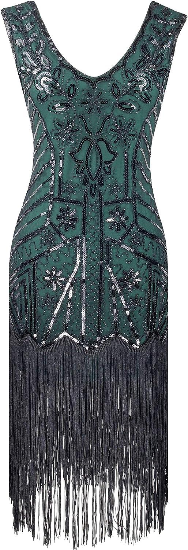 Women 1920s Flapper Dress Gatsby Sequin Vintage Wedding Formal Cocktail Dress