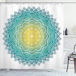 Ambesonne Mandala Decor Collection, varios patrones de tamaño colorido Mandala india Espiritual símbolo diseño de estilo b...