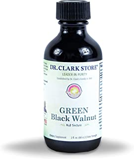 Dr Clark Green Black Walnut Hull Tincture - Dietary Supplement for para Cleanse, Extra Strength Formula from All Natural Walnuts, Supports Healthy Intestinal Environment, 2 fl. oz (60cc.)