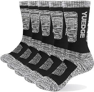 YUEDGE 靴下 メンズ ソックス 5足セット アウトドア ウェア トレッキング 登山用 靴下 抗菌防臭 綿 作業用 メンズ スポーツ 靴下