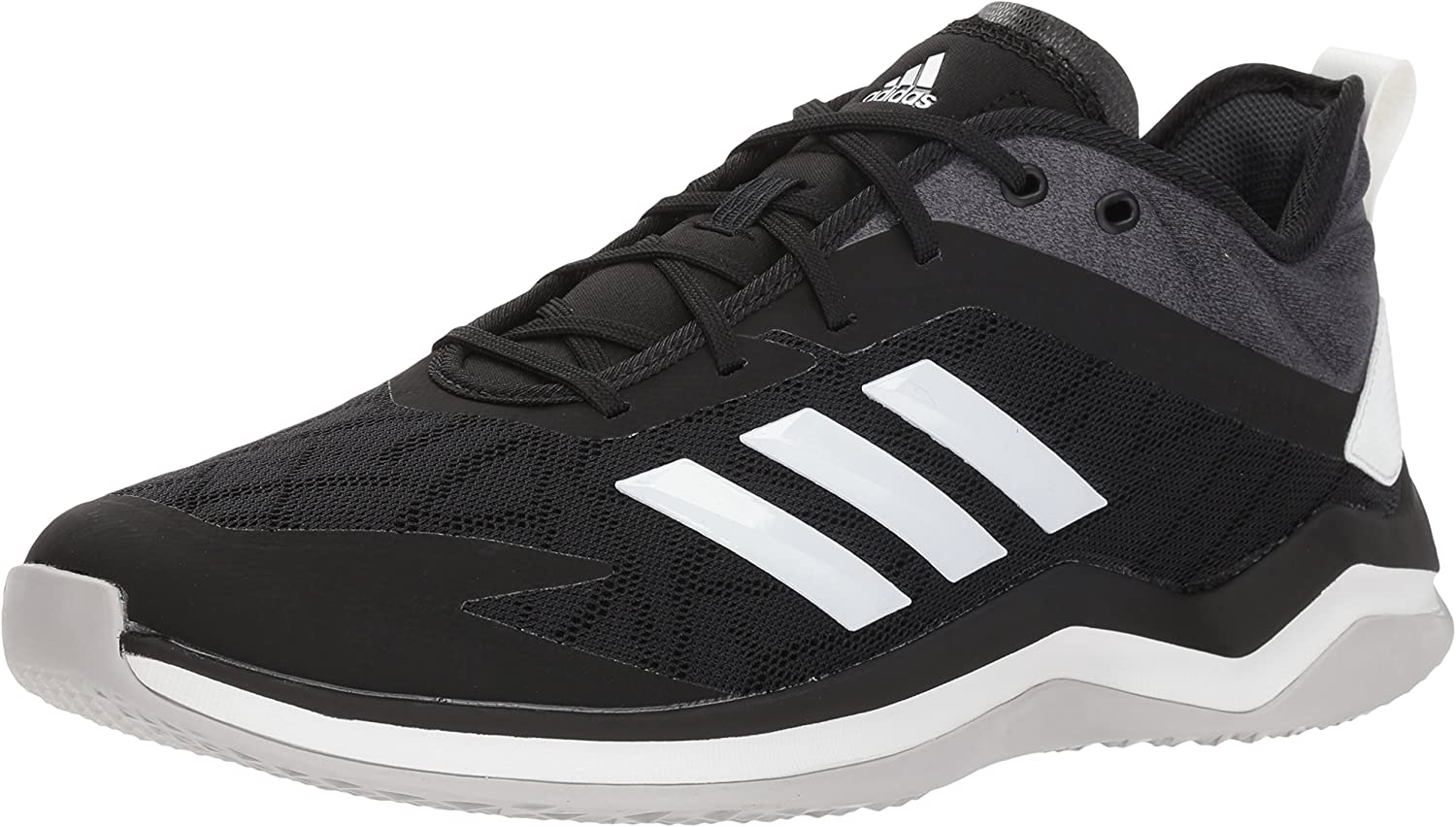 Adidas Men's Speed Trainer 4 Baseball shoes, Black Crystal White Carbon, 10 M US