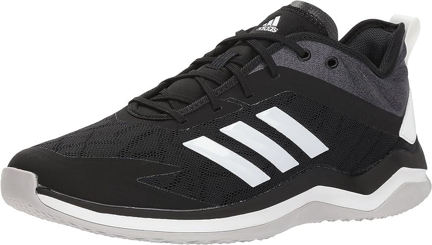 Adidas Men's Speed Trainer 4 Baseball chaussures, noir Crystal blanc Carbon, 8 M US