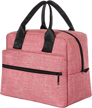 956f38ef8a5 Lunch Bags For Women&Men Insulated Lunch Box For Lunch Cooler Tote(Pink)