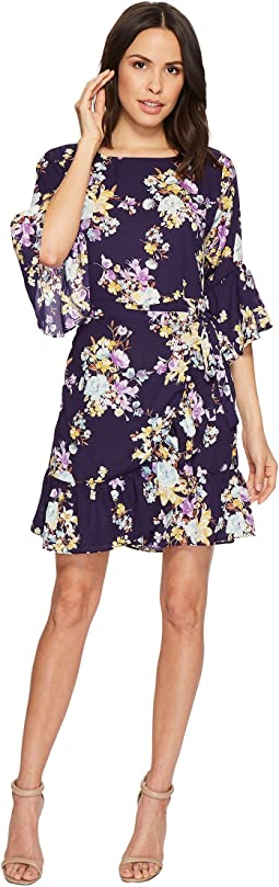 B Collection by Bobeau - Astrid Floral Apron Dress