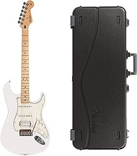 Fender Player Stratocaster HSS MN Polar White Bundle w/Fender Molded Hardshell Case