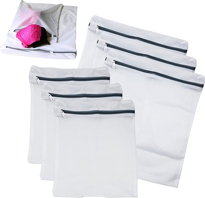 6 Pack SimpleHouseware Laundry Bra Lingerie Mesh Wash Bag 3 Large 3 Medium