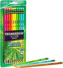 Dixon Ticonderoga No.2 Pencils, Assorted Neon, 10-Pack