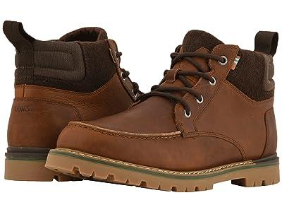 TOMS Hawthorne Waterproof Boot (Peanut Brown Leather) Men
