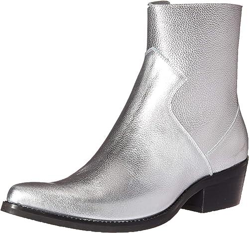 CK Jeans Hommes's Alden Tumbled Leather Fashion démarrage, démarrage, démarrage, argent, 11 M US 2fd
