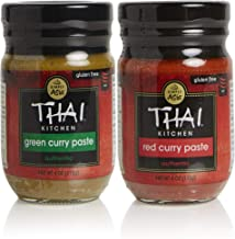 Thai Kitchen Curry Paste Combo Pack, Includes 1 Each of Red and Green Curry with Aromatic Spices, 4 Ounce, Pack of 2