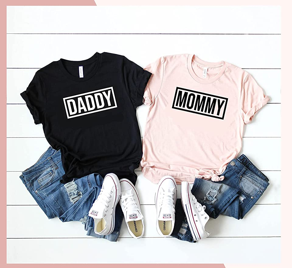 Mommy and Daddy Shirt - Mom and Dad Shirts - New Mom Shirt - New Dad Shirt - Pregnancy Reveal Shirt - Pregnancy Announcement Shirts