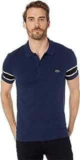 Mens Short Sleeve Stretch Pique Semi-Fancy Slim Fit Polo Shirt