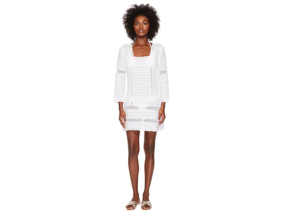 Letarte Embroidered Dress Cover-Up (White) Women