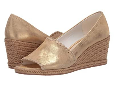 Jack Rogers Palmer Wedge (Gold) Women