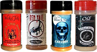 Spice Gift Set Ghost Pepper Powder Trinidad Moruga Scorpion Habanero Chili Hot Spice Pack