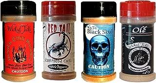 Chili Powder Gift Set Ghost Pepper Scorpion Habanero Hot Chili Spice 4 Pack