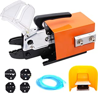 Flytuo Pneumatic Crimper Plier Machine AM-10, Air Powered Wire Terminal Crimping Machine Crimping Up to 16mm2, Pneumatic C...