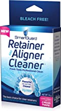 SmartGuard Retainer Aligner Cleaner 70 DAY PACK: Invisalign Cleanser for Brite OAP Clear Correct Removable Orthodontic Braces & Dental tooth for plastic Oral Appliances & Teeth Whitener Trays