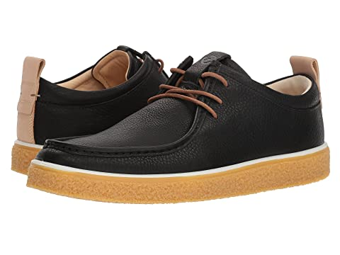 ECCO Crepetray Moc Tie Black/Powder Cheap Sale Ebay s76Sc
