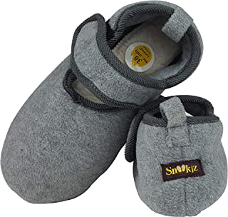 Elderly Slippers - Easy to wear for Older People- {Included} Microwave Heated Insoles to Help Blood Circulation - Perfect Cold Feet Solution