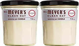 Mrs. Meyer's Clean Day Scented Soy Aromatherapy Candle, 35 Hour Burn Time, Made with..