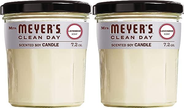 迈耶斯夫人清洁日香味大豆蜡烛大玻璃薰衣草