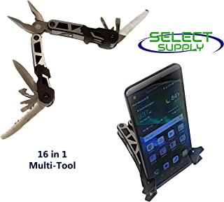 16 in 1 Multi-Tool Pliers with Phone Holder Stand - Millennial Scout Model - Hunting, Camping, Fishing and Hiking