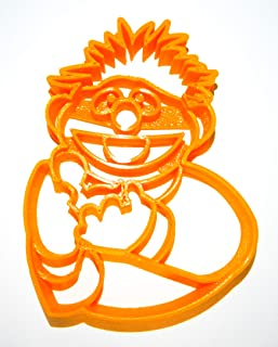 ERNIE WITH RUBBER DUCKIE SESAME STREET MUPPET CHARACTER KIDS TV SHOW SPECIAL OCCASION COOKIE CUTTER BAKING TOOL 3D PRINTED MADE IN USA PR2016
