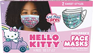 Just Play Children's Single Use Face Mask, Hello Kitty, 14 Count, Small, Ages 2 - 7