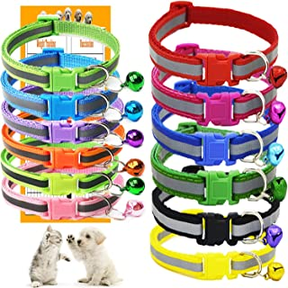 GAMUDA Puppy Collars – Super Soft Nylon Whelping Puppy Collars - Adjustable Litter Collars Pups – Assorted Colors Reflecti...