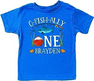 Personalized O-Fish-Ally- ONE Boys 1st Birthday Shirt Fishing First Birthday Boy Shirt