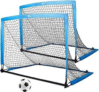 amzdeal Portable Soccer Goal, 4×3ft Soccer Nets for...