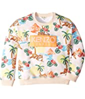 Kenzo Kids - All Over Print Logo Sweatshirt (Big Kids)