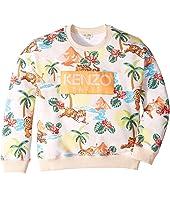 Kenzo Kids - All Over Print Logo Sweatshirt (Big Kids)