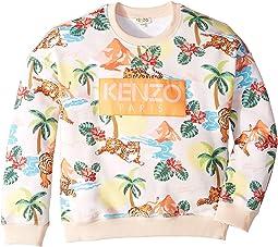 All Over Print Logo Sweatshirt (Big Kids)